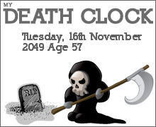 My Death Clock quiz results