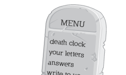 Death Clock Bottom Menu